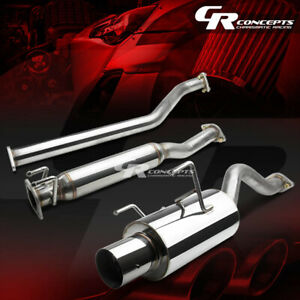 4 Muffler Burnt Tip Catback Exhaust Silencer System For 02 06 Acura Rsx Type S