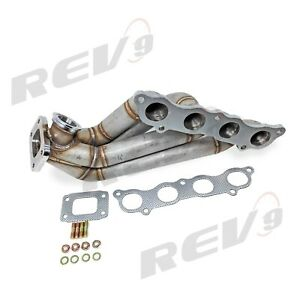 Rev9 Hp Series Side Winder Equal Length Turbo Manifold T3 For Civic Si Rsx K20
