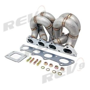 Rev9 Hp Series Honda Civic B16 B18 Equal Length Ram Horn Turbo Manifold T3 Ac Ps