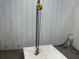 Budgit 1 2 Ton 1000lb Manual Chain Fall Hoist 12 5 Lift Load Tested