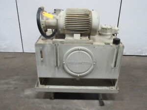 Rexroth 06 973598 02 01 15hp Hydraulic Power Station Unit 40 Gal 230 460v 3ph