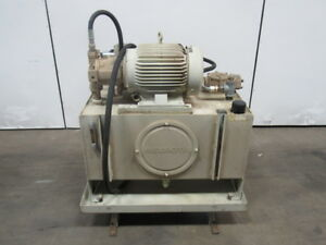 Rexroth 06 973752 02 01 15hp Hydraulic Power Station Unit 40 Gal 230 460v 3ph