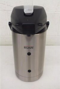 Bunn Stainless Steel Vacuum Insulated Coffee hot Beverage Pump Dispenser 2 5 l