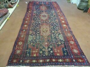 4 X 10 Antique Hand Made Persian Tribal Kurd Bidjar Bijar Goltog Wool R