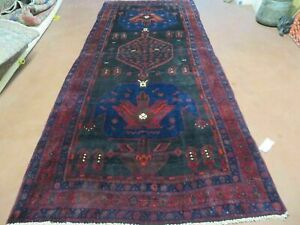 4 X 10 Antique Hand Made Persian Tribal Kurd Bidjar Bijar Goltog Wool Rug 629