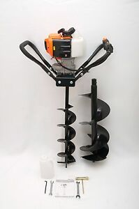 Hand held Post Hole Digger Earth Auger W 6 10 Bits 43cc 1 75hp Gas Engine