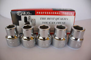 Genius Tools 3 4 Drive Metric Hand Socket 17mm To 76mm 6 Point