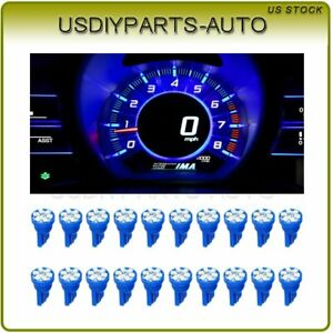 20x Blue T10 194 158 168 6 Smd Led Instrument Panel Cluster Dash Light Bulbs 12v