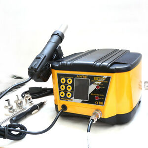 Aoyue 6031 2 In 1 Rework Station Hot Air Gun Soldering Iron 220v