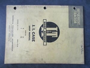 Case D S La Va Tractor Shop Manual