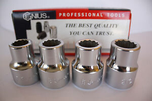 Genius Tools 3 4 Drive Metric 12 Point Hand Socket 17mm To 70mm Short