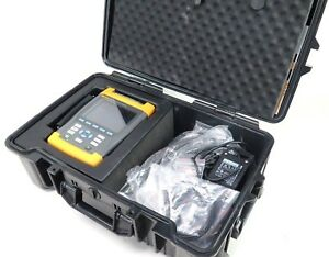 Fluke 435 Three Phase Power Quality Analyzer W Clamps Test Lead Cable Extras