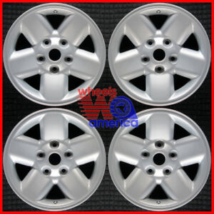 Set 2002 2003 Dodge Ram 1500 Oem Factory 5gy24trmac 5gy24trmaa Wheels Rims 2165