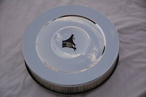 Chrome 14 X 3 Street Rod Flat Base Air Cleaner Ford Chevy Mopar Bbc Sbc Gm