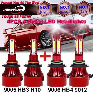For Toyota Corolla Camry 9006 9005 600w 60000lm Led 4 sided Car Hi lo Headlights