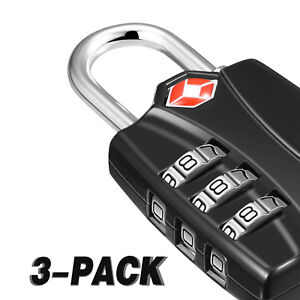 New 3 Digit Combination Door Luggage Suitcase Metal Code Password Padlock Local