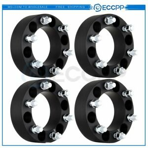 4pcs 2 50mm Thick 6x5 5 14x1 5 Wheel Spacers For Chevy Silverado 1500 Suburban