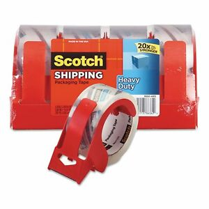 Scotch 3850 Heavy duty Packaging Tape 1 88 X 54 6yds 3 Core Clear 4pk No Tax