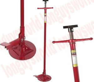 Auto Oil Fuel Pan Pedestal Transmission Jack Stand Long Hoist Tool