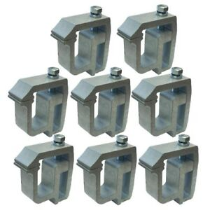 Eight Universal Hd Camper Canopy Shell Topper No Drill Aluminum Clamp Bracket