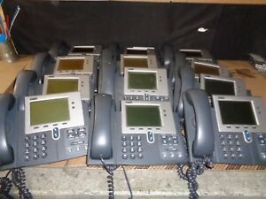 Lot Of 12 Cisco Cp 7940g Ip Phone 7900 Series W Stand And Headset