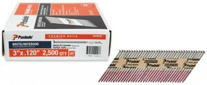 Paslode 3 In 30 degree Brite Smooth Shank Paper Tape Framing Nails 2500 Count
