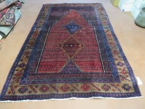 5 X 8 Antique Hand Made Persian Tribal Kurd Bidjar Bijar Goltog Wool Rug 616