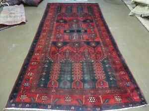 5 X 9 Antique Hand Made Persian Tribal Kurd Bidjar Bijar Wool Rug Birds 476