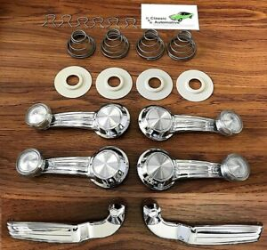Window Crank Door Handle 20pc Kit Chevelle Camaro Gto Nova Clear Impala Cutlass