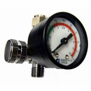 Anest Iwata Hand Pressure Gauge Ajr 02s vg Air Regulator For Spray Guns