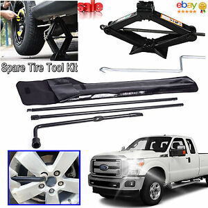 Spare Tool Kit Lug Wrench Scissor Jack For Ford F250 F350 F450 F550 Pickup Truck