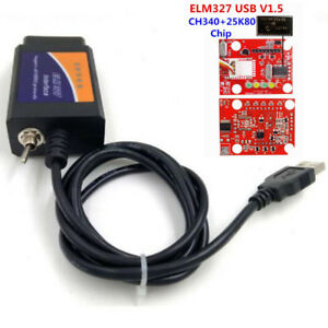 Elm327 Usb V1 5 Modified Elmconfig Ch340 25k80 Chip For Hs Can Ms Can Forscan