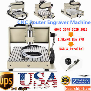 1 5kw Spindle 3 4 Axis Cnc Router Engraver Engraving Drilling Milling Machine