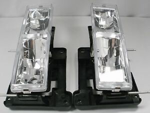 Chevy Silverado C1500 K2500 Tahoe Gmc Sierra Pair Headlights Clear 1989 1997
