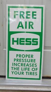New 50 S 60 S Style Hess Gas Station Free Air Dealer Sign Ad Garage Mancaveart