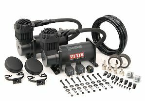 Viair 400c Stealth Black Air Compressor Dual Pack Air Ride Bagged Rat Rod