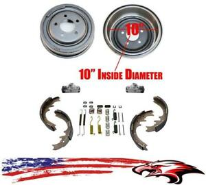 10 Rear Drums Shoes Spring Kit Wheel Cylinders For Ford Ranger Mazda B Series