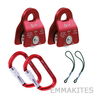 Outdoor Tree Workers Arborists Climbing Pulley System Kit With Prusik Carabiner