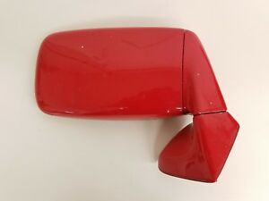 Porsche 911 944 951 Passenger Side Door Mirror Guards Red