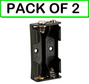 2 pack Velleman Bh321b Battery Holder For 2 X Aa cell with Snap Terminals