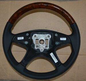 New Oem Mercedes Benz W204 C Class Wood Leather Steering Wheel 2044602003
