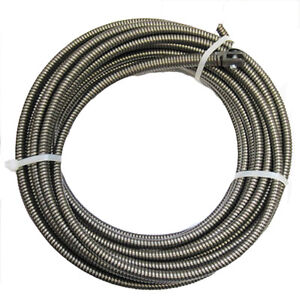 New 100 ft Drain Auger Cable Replacement Cleaner Snake Clog Pipe Sewer Cleaner