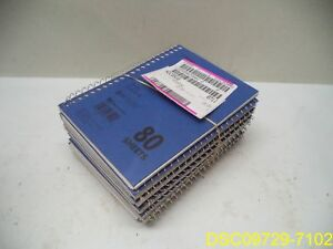 Qty 10 Mead Mid Tier Single Subject Notebooks 80 Sheetcollege Ruled 5 X 7