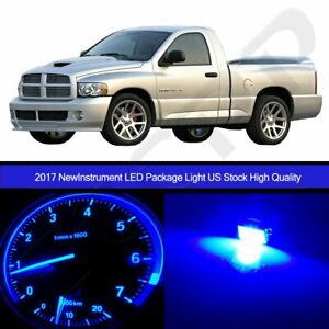 Blue Instrument Cluster Bulbs A C Climate Led Package For 02 06 Dodge Ram 1500