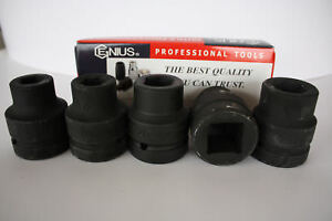 Genius Tools 1 Drive Metric Impact Socket 17mm To 115mm 6 Point