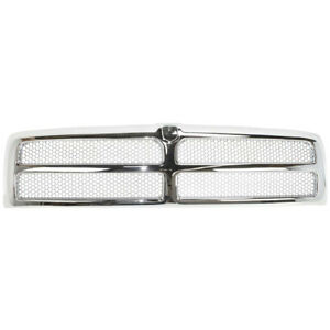 New Chrome Shell W Silver Insert Grille For Dodge Ram 1500 2500 3500 1994 2002