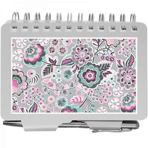 8538 Wellspring Silver Pink Mint Floral Password Organizer Book With Pen wow