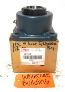 Rexnord 4 bolt Flange Self Aligning Bearing Mf2115 1 15 16 Bore