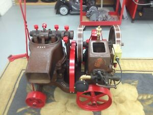 Fuller Johnson Mud Pump Hit And Miss Engine 1 5 Hp On Original Factory Cart