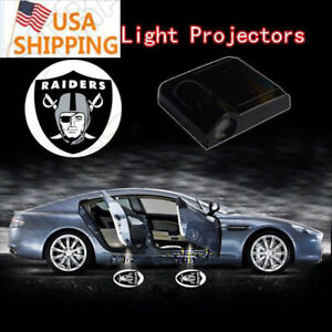 Usa Stock 2pcs Nfl Oakland Raiders Wireless Car Led Projector Door Ghost Light